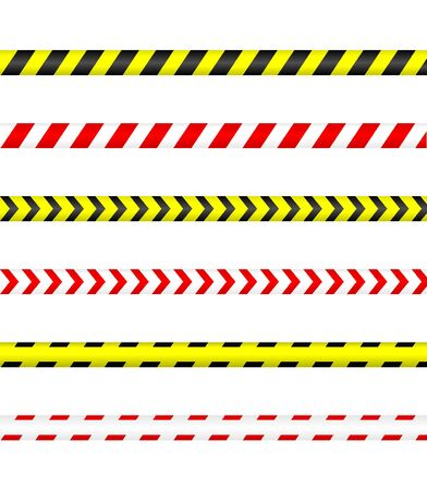 Illustration for Caution tape, Police line and danger tape. - Royalty Free Image