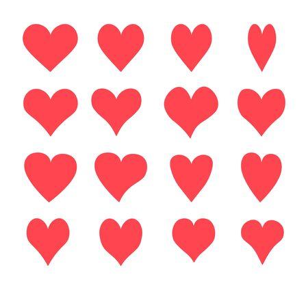 Photo pour A set of hearts, Vector icons - image libre de droit