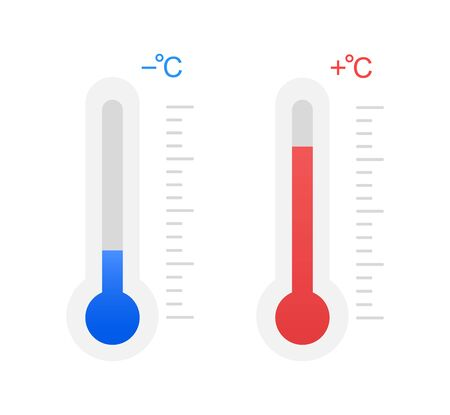 Illustration for Cold and heat, subzero temperature and above zero. - Royalty Free Image