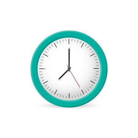 Illustration pour Clock wall on the white background, time. Vector illustration - image libre de droit