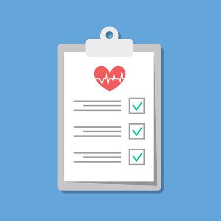 Illustration pour Medical Checklist in flat design. Vector illustration - image libre de droit
