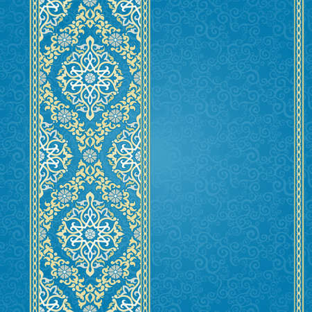 Vector Seamless Border In Eastern Style Ornate Element For
