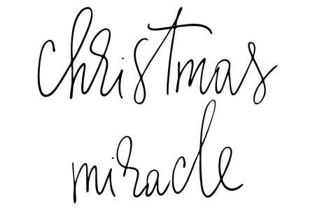 Illustration pour Christmas miracle handwritten text vector - image libre de droit