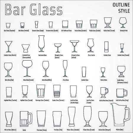 Illustration pour Illustration of Bar Glasses - image libre de droit
