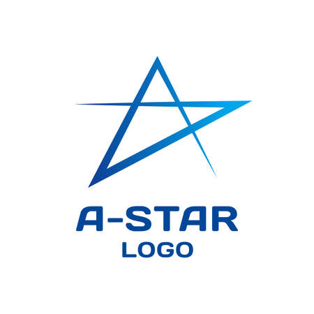 Illustration for Abstract star vector logo template. - Royalty Free Image