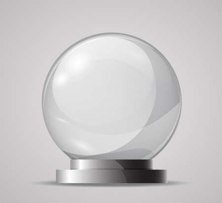 Glass sphere on a stand. Template for the magic ball, souvenir. Empty glass sphere. Crystal ball for fortune tellers.