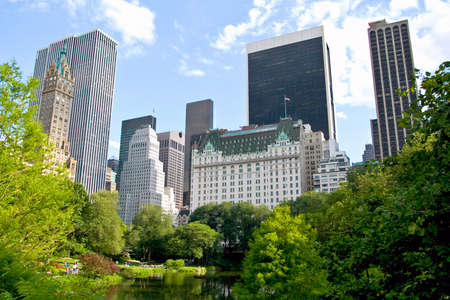 New York City buildings from Central park