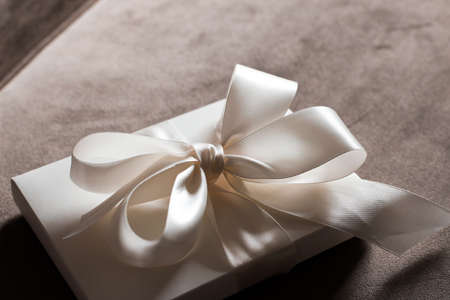 Photo for Romantic celebration, lifestyle and birthday present concept - Luxury holiday gift box - Royalty Free Image