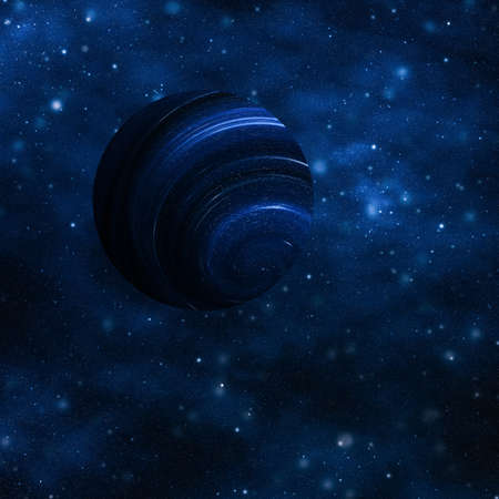 Foto de Discovery in astronomy, cosmic abstract and future technology concept - Stars, planet and galaxy in cosmos universe, space and time travel science background - Imagen libre de derechos