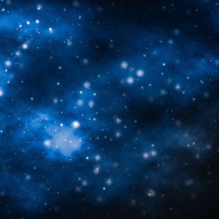 Photo pour Discovery in astronomy, cosmic abstract and future technology concept - Stars, planet and galaxy in cosmos universe, space and time travel science background - image libre de droit