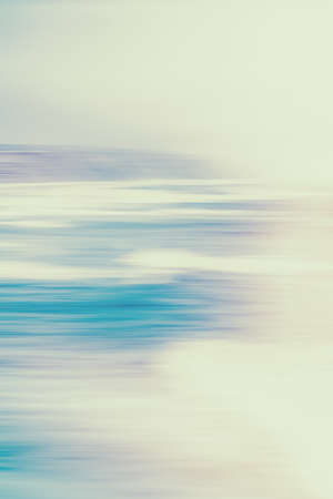 Photo pour Seascape, seaview and coastline concept - Abstract vintage coastal nature background, long exposure view of dreamy ocean coast, sea retro art print, beach holiday destination for luxury travel brand - image libre de droit