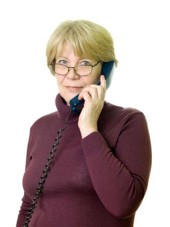 Foto für a senior woman at telephone  - Lizenzfreies Bild