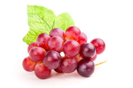 Foto per red grape, isolated on white background. - Immagine Royalty Free
