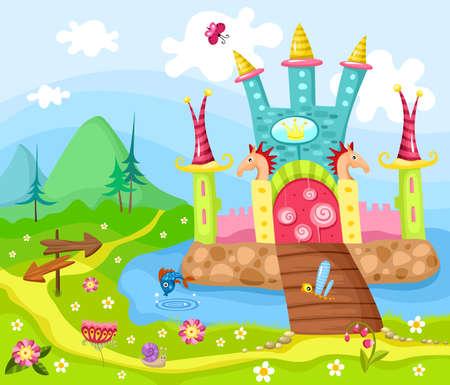 Illustration for castle - Royalty Free Image