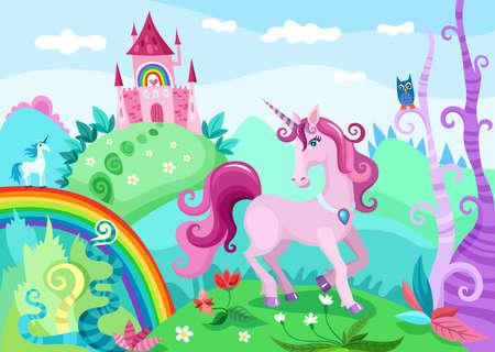 Illustration pour unicorn illustration - image libre de droit