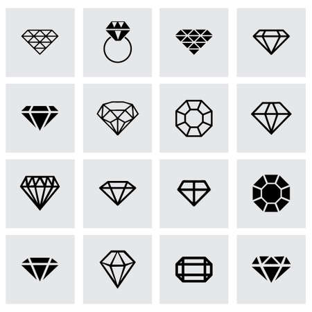 diamond icon set on grey background