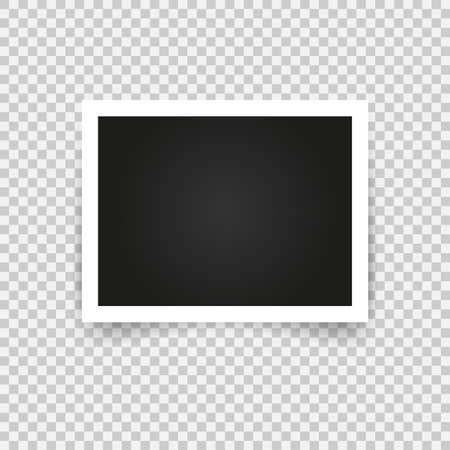 Illustration pour Blank photo frame with adhesive tape, empty space for your photograph. - image libre de droit