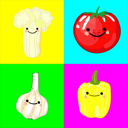 Memory game for children of preschool age. A set of paired cards for the development and training of children\'s memory. Postcards on the subject of VEGETABLES. Vector illustration