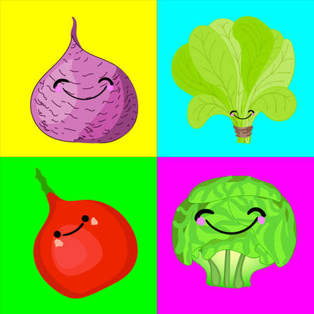 A game for children of preschool age. Card for the development and training of children\'s memory. Cards on the subject of vegetables. Vector illustration