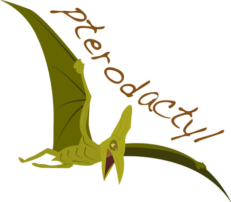 Stay away from dangerous flying pterodactyl. Pick those design by Ann The gran