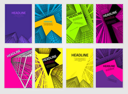 Vector business brochure cover template  Modern backgrounds