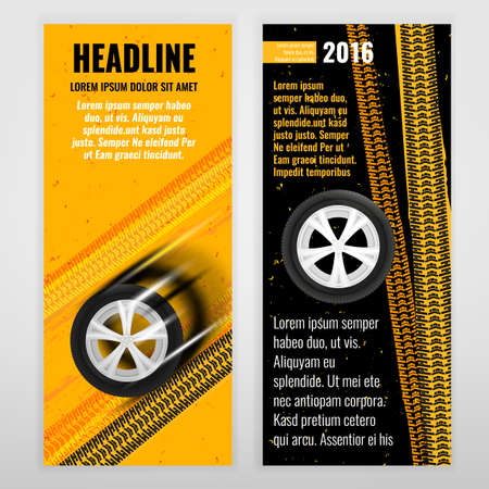 Vector automotive banner template  Bright modern backgrounds for