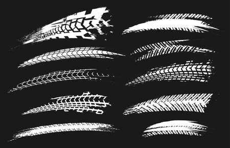Motorcycle tire tracks image illustration