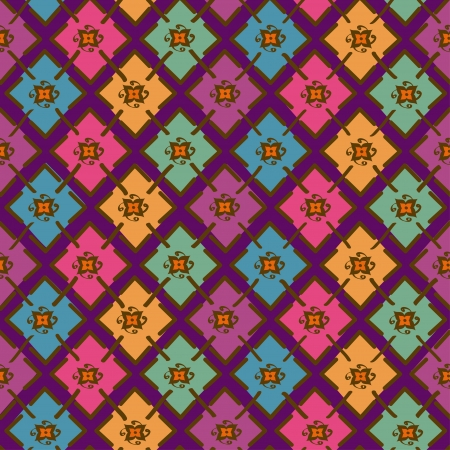 Colorful ethnic tribal geometric seamless pattern