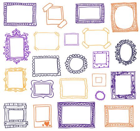 Illustration pour Hand drawn photo frames.  - image libre de droit