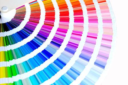 Foto de Color palette, Sample color catalog, Rainbow background - Imagen libre de derechos