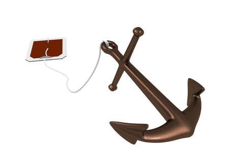 Three-dimensional model - an anchor similar to tea in bags.