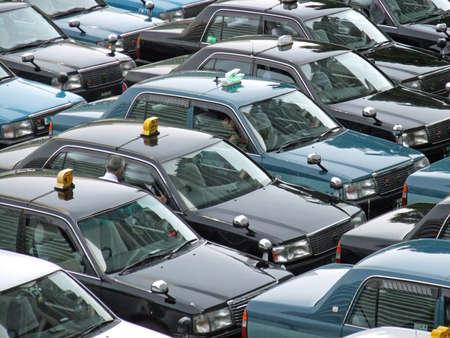 Taxis waiting for passengers (Nagoya Japan)