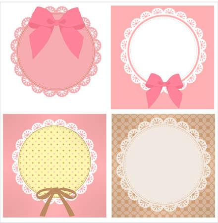 Illustration pour cute lace pattern - image libre de droit