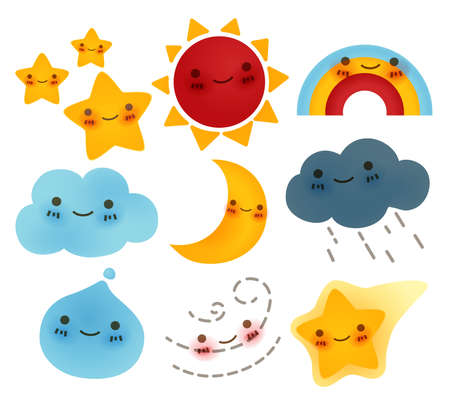 Collection of weather Icon - Vector Fileのイラスト素材