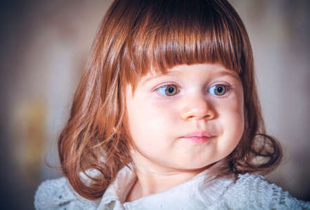 Photo for Portrait of a beautiful girl close-up - Royalty Free Image
