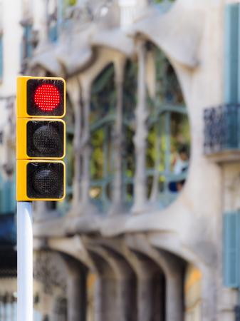 Red Light near Casa Batllo