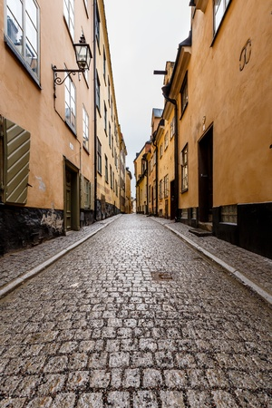 Brick Street in Old Town Stockholm