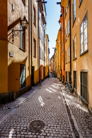 Narrow Street in Old Town Stockholm