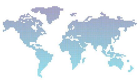 Illustration pour Dotted world map - image libre de droit