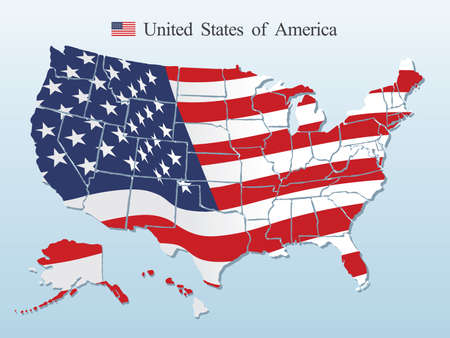 Illustration for USA map vector - Royalty Free Image