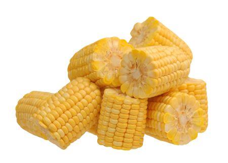 Photo for fresh corn isolated on white background - Royalty Free Image