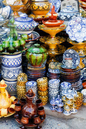 Traditional moroccan pottery at Safi