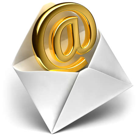 The metaphor of the e-mail - the golden sign e-mail comes from the open envelope