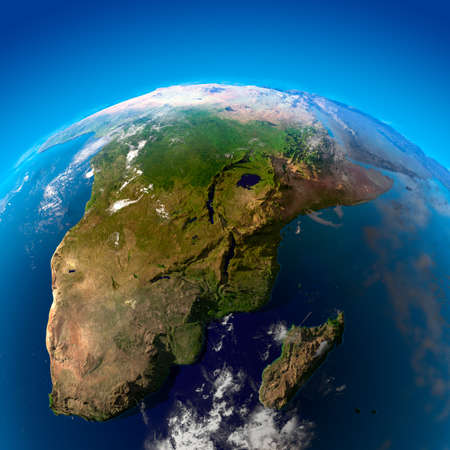 South Africa, Namibia, Botswana, Zimbabwe, Mozambique and Madagascar.  The view from the satellites