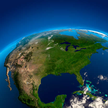 Mexico, U.S. and Canada. The view from the satellites