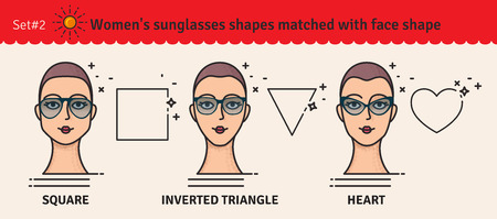 980c1fb119a Sunglasses shapes guide. Women s sunglasses shapes matched with face shape.  Various
