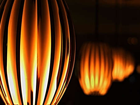 Hanging lamps with ambient light