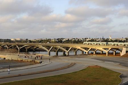 tramway bridge between Rabat and Salé - Morocco