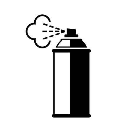 Illustration for Spray can vector icon on white background. - Royalty Free Image