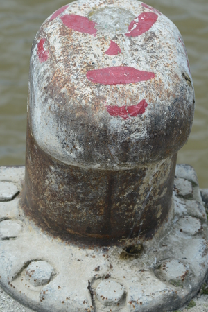 Bollard in harbor of Leer / Ostfriesland